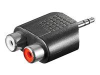 Adapter Audio 2x Cinch Buche an 3,5mm Klinke Stecker