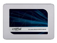 500 GB SSD Crucial MX500 SATA 6GB/ s 6,4cm/ 2.5 Zoll lesen: 560MB/s, schreiben: 510MB/s, TBW: 180TB