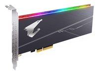 512 GB SSD Gigabyte Aorus RGB AIC NVMe SSD, PCIe 3.0 x4, lesen: 3480MB/s, schreiben: 2100MB/s, TBW: 800TB
