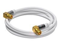 3m SAT Antennenkabel, F-Stecker 90° > F-Stecker 90°, vergoldet