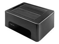 LogiLink USB 3.0 2-Bay für 2.5/3.5 SATA HDD/SSD, schwarz, USB-B 3.0