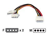 Festplatten-Y-Adapter für Stromversorgung 5.25
