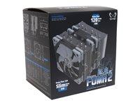 Scythe Fuma 2 CPU-Lüfter, 1x 120x120x25mm, 300-1200rpm, 57.5m³/h, 23.9dB(A), 1x 120x120x15mm, 300-1200rpm, 86.5m³/h
