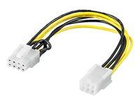 0,19m internes Stromkabel PCI Express 6 pin > PCI Express 8