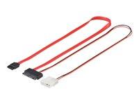 0,3m internes S-ATA Micro 2in1 Datensignal + Stromadapter goobay