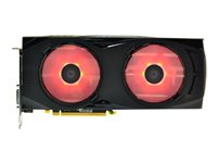 2X 90MM RED LED FAN