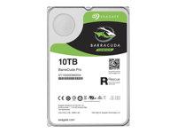 10.0 TB HDD Seagate BarraCuda Pro +Rescue-Festplatte, geeignet für Dauerbetrieb, heliumgefüllt