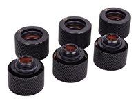 Alphacool Eiszapfen Rohranschluss schwarz, 6er-Pack 1/4 Zoll auf 16mm