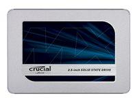1.0 TB SSD Crucial MX500 SATA 6GB/ s  6,4cm/ 2.5 Zoll lesen: 560MB/s, schreiben: 510MB/s, TBW: 360TB