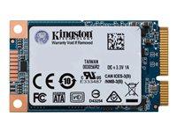 240 GB SSD Kingston UV500, mSATA lesen: 520MB/s, schreiben: 500MB/s, TBW: 100TB