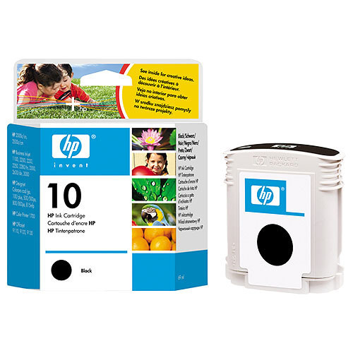 HP Tinte Nr 10  black        C4844A