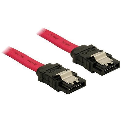 0,5m SATA-Kabel Metall gerade DeLock