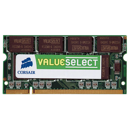 DDRRAM 512MB DDR-333 Corsair ValueSelect SO-DIMM, CL2.5
