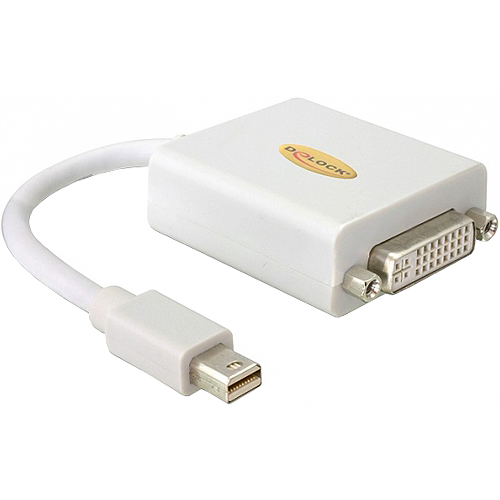 Adapter Mini-DisplayPort 1.1 Stecker > DVI Buchse Passiv DeLock