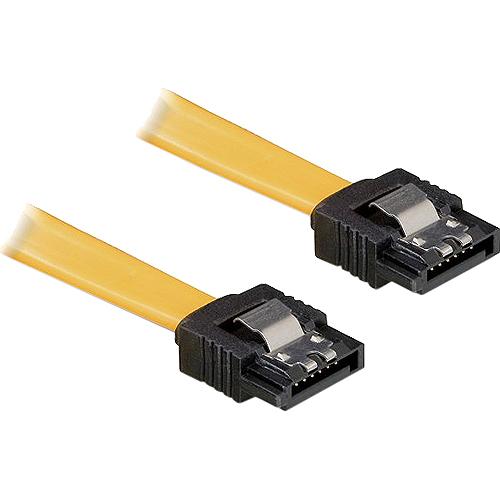 0,3m SATA-Kabel Metall gerade gelb