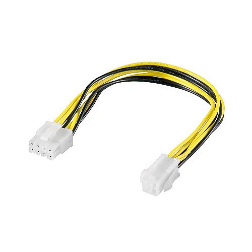 0,15m internes Stromkabel 8 Pin Stecker -> P4 4 pin Buchse