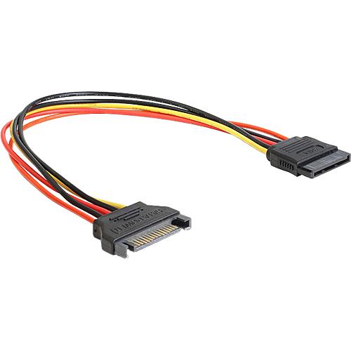 0,3m 15 Pin Stecker auf SATA 15 Pin Buchse Verlängerung