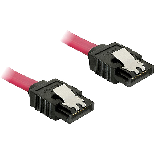 0,1m SATA III-Kabel gerade/gerade rot DeLock