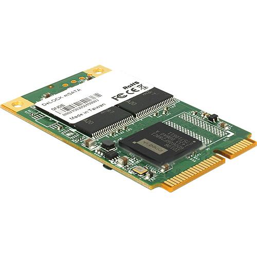 32 GB SSD DeLOCK Flash Modul, 50.8mm, mSATA 6Gb/s lesen: 473MB/s, schreiben: 84MB/s